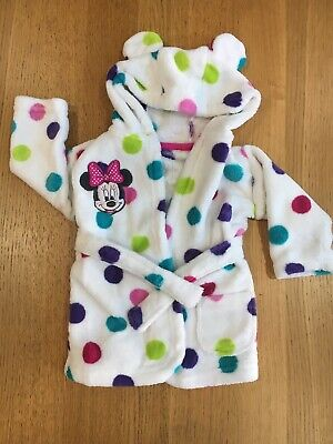 Disney Minnie Mouse Baby Girls Dressing Gown 0-6 Months