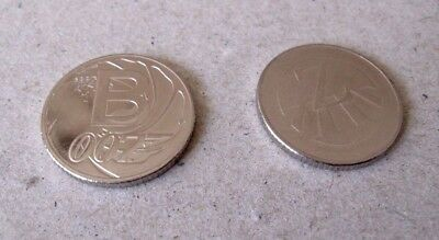 CHEAPEST ON EBAY - 1 x Z & 1 x B - 10p COINS  A-Z COLLECTORS BRITISH COIN HUNT #