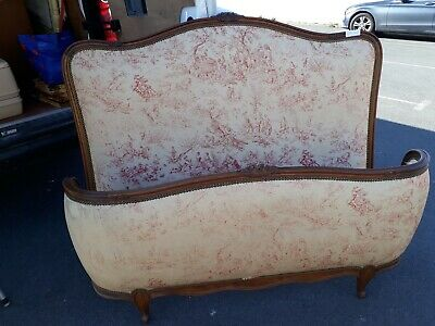 Lovely Vintage French Carve Corbielle Double Bed Either Shabby Chic Or Recover