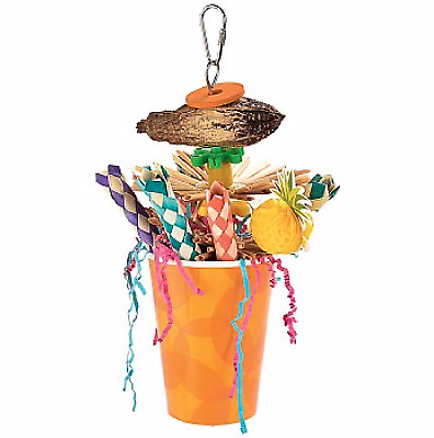 Punch Bowl Chewable Foraging Parrot Toy - Multi-Textured Toy