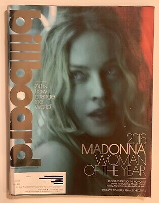MADONNA WOMAN OF THE YEAR   Billboard Magazine December 2016