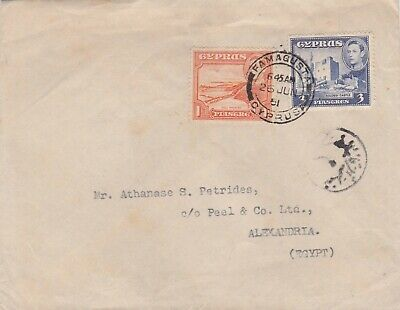 Cyprus Egypt 1951 Cens. Cover From Famagusta To Alexandria