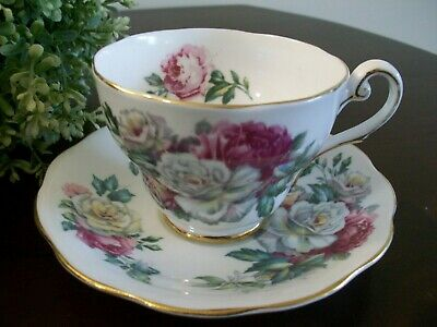 Vintage Royal Standard Cup & Saucer Irish Elegance Gold Trim