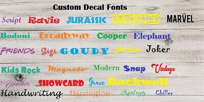 Custom name decal personalized decal for car, yeti, tumbler, shaker bottle