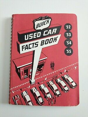 1952-1955 Buick Salesman's Data Facts Book / Dealer  Album / Rare Original!!! 53