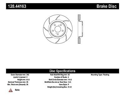 Disc Brake Rotor-OE Type Drilled Disc-Preferred Rear fits 08-14 Lexus IS F