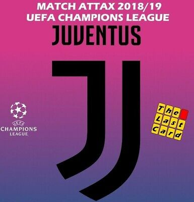 Match Attax Uefa Champions League 2018/19 Juventus Individual Cards