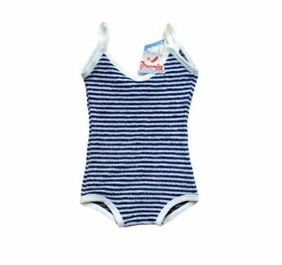 "French Vintage ""Dreaming"" Terry Cloth Swim Suit Leotard Baby Toddler Girls 2-4T"