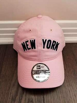 61d7b95bf8c Brand New New York Yankees New Era MLB Pink Wordmark 9TWENTY Ladies Cap Hat