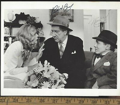 RICHARD BOONE + MICHAEL DUNN-BOTH SIGNED PHOTO-PALADIN+WildWildWest DR LOVELESS