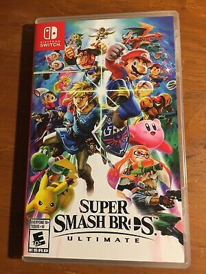 Super Smash Bros. Ultimate Ultimate (Nintendo Switch, 2018) - Cartridge And Case