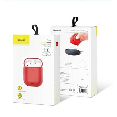 Baseus Qi Wireless Carica Custudia Cover Silicone Auricolare Per Apple Airpods