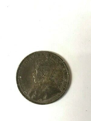 Canada 1917 50 Cents King George V Silver Coin