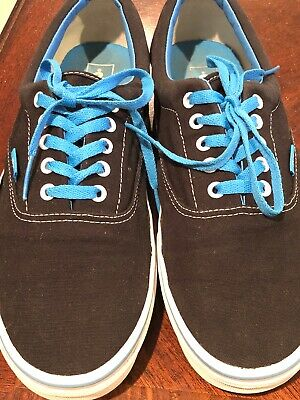8e5bbc7ed1 VANS ERA POP Black Blue Curacao Men s Skate Shoes Size 12 Pre Owned ...