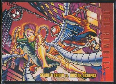 1996 Spider-Man Premium Trading Card #44 Scarlet Spider vs. Doctor Octopus