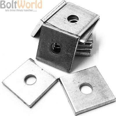 A2 / A4 Marine Grade Stainless Steel Heavy Duty Thick Square Plate Washers Uk