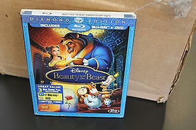 Beauty and the Beast (Blu-ray/DVD, 2010, 3-Disc Set, Diamond Edition) with slip