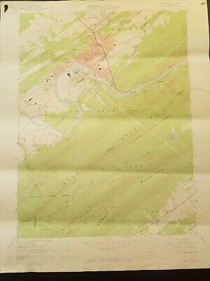 "1966 Topographic Map Lewistown QUADRANGLE PENNSYLVANIA 27"" X 21-1/2"""