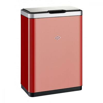 Wesco 411-02 Master Double Stainless Steel Pedal Bin – Red, 27 x 45 x 65.5 cm