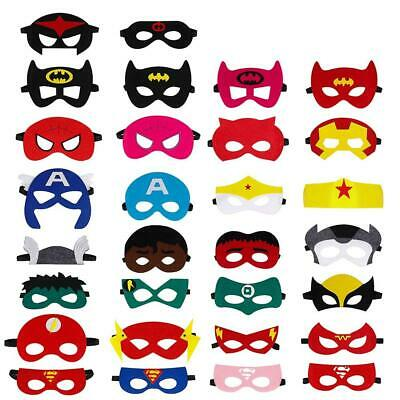 QH-Shop Superhero Masks,Felt Masks Colors Party Cosplay with Elastic Rope...