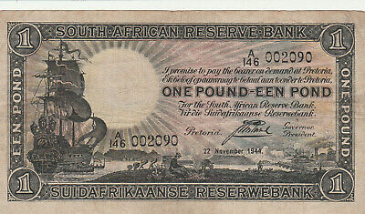 South africa 1944 1 pound The black note