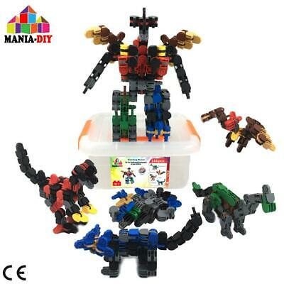 Construction building blocks 4 in 1 | 144 pcs to build 4 dinosaurs that can...