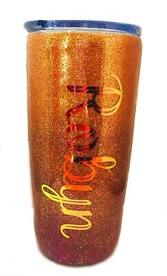 Ombre Holographic Glitter Personalized Tumbler - You Choose Colors - 20 oz