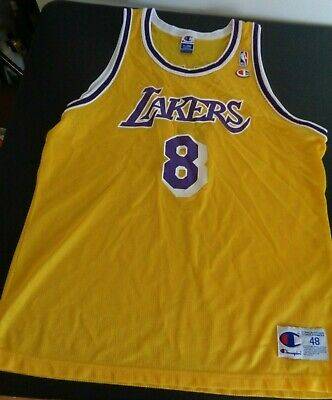 9d6527eff7e KOBE BRYANT Los Angeles LAKERS Vintage CHAMPION Replica NBA Jersey XL Size  48