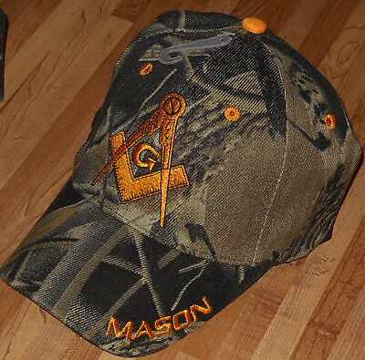 Mason Camo Cap - One Masonic Camouflage Hat Collectable Nice Gift  FreeMasonry. 50af9d2ea81d