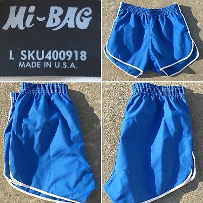 Vintage Shorts Running Style Track Short Shorts Mi-Bag Made In USA L SKU400918