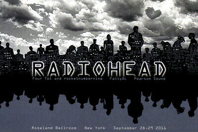 Radio head 2011 reproduction concert poster