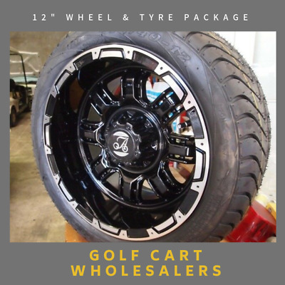 Golf Cart Buggy Car 12 Inch Custom Wheels With Low Profile Tyres Suit All Carts