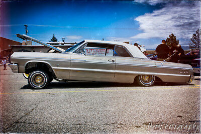 12X18 IN  POSTER 1964 Chevy Impala Lowrider, Vintage hot rod Garage Art Man  Cave