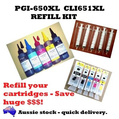 Canon PGI-650XL CLI-651XL Refill kit. Cartridges, Ink, Syringes and needles,