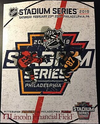 2019 Nhl Stadium Series Game Program Penguins Flyers See Ebay Store Puck Patch