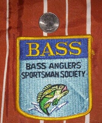 Vintage BASS Anglers Sportsman Society Fishing Patch