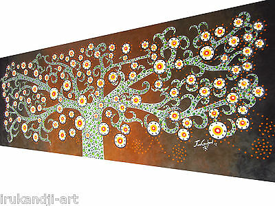 Large Huge tree of life oil painting art flower canvas abstract  by Jane
