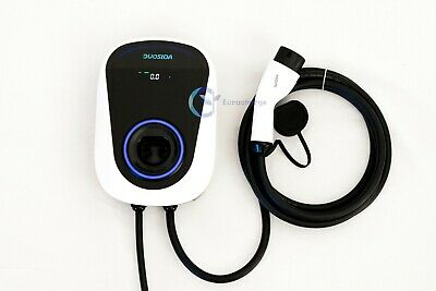 Home Electric car Fast Charging point station 32A 7kw Tethered Type2 EV Charger