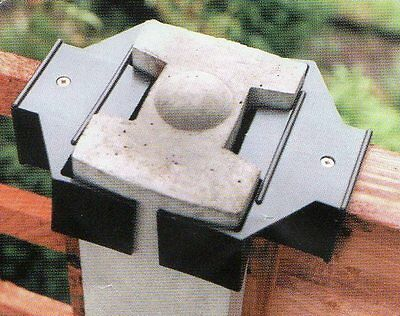 """10 Anti Rattling Fence Panel Clamps Wind Gale For 125mm 5"""" Concrete Posts ONLY"""