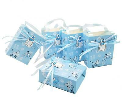 Jzk 50 Blue Plain Wedding Favour Box Paper Favours Small Gift For Birthday