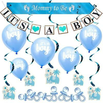 ARTIT Baby Shower Boy Blue Decoration 37 PCS Set All-in-1 Perfect Party...