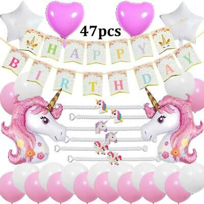 JUSTIDEA 55 pcs Birthday Balloons Unicorn Balloons Unicorn