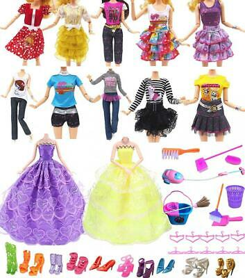 """Hey~Yo Doll Clothes for Barbie,11"""" Accessories 41 Pcs-Included 2 Pcs Wedding..."""