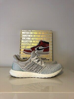 d4497496cd6 Adidas Ultra Boost x Parley LTD Men s Shoe Cloud White Blue Spirit BB7076  Sz 9.5