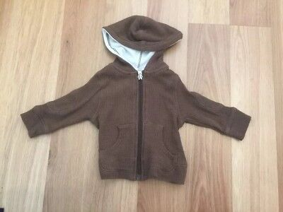 SNOOKY - Brown Hoodie - Size 000 0-3Months - Bamboo & Cotton Blend