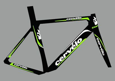 CERVELO Bike Bicycle Frame Decals Stickers Graphic Adhesive Set Vinyl Red Black