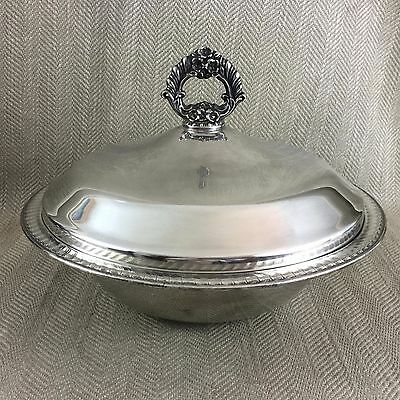 Vintage Silver Plated Tureen Covered Bowl Rogers Silver Plate
