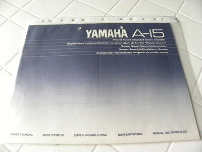 Yamaha A-15 Owner's Manual  Operating Instructions Istruzioni New