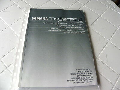Yamaha TX-590RDS Owner's Manual  Operating Instructions Istruzioni   New