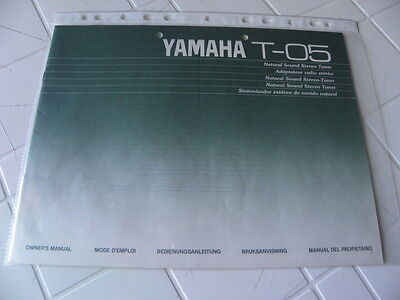 Yamaha T-05 Owner's Manual  Operating Instructions Istruzioni